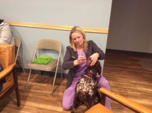 Dr. Nancy Meyer at pet education night. Why does my pet itch?